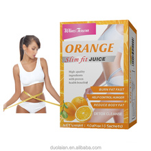 Private label Fruit juice enhance Weight Loss orange Slim Flat Tummy Fat Burn Detox Slim Juice Powder