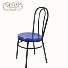 Wholesale China Alibaba furniture metal dining cafe snack bar bistro outdoor garden chair