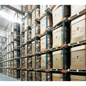 warehouse storage with material handling shelving and racking systems