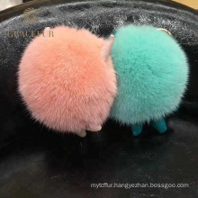 Hot Selling mink fur ball purse charm keychain
