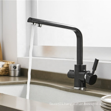 YL-662 High quality 3 way stainless steel water filter purifier black water purifier kitchen faucet