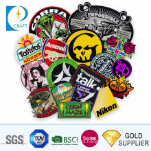 Custom Special 3D Flower Embroidered Woven Patch Sport School Logo Military Flag Fabric Textile Towel Police Embroidery Badge for Clothes Garment Accessories