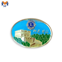 Full color logo hard soft enamel metal pin