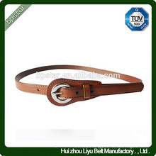 Fashion Thin Genuine leather Brown Metal Buckle Belt For Dress/Cintos Moda Mulher cintos de couro
