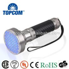 Linterna de aluminio ULTRAVIOLETA del LED 100 por la batería de 4 * AA