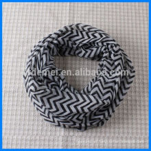 Lady polyester chevron infinity scarf wholesale