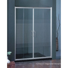 Easy Clean Sanitary Ware Bathroom Tempered Glass Simple Shower Screen (H021)