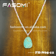 artesanal delicado cristal miçangas colares pingente de colar