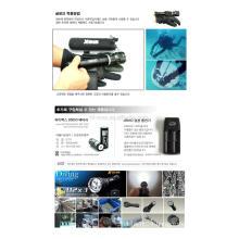 Diving xm-l U2*3 LED magnetic switch IPX8 deep diving flashlight