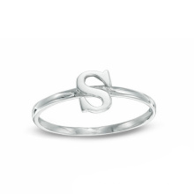 Silber Schmuck Umwelt Kupfer Alphabet S Brief Ring