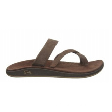Cement Construction Full Grain Leather Slip-on Sandals