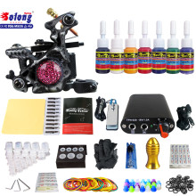 Solong TK105-58 Beginner Tattoo Kit with Tattoo Gun Power Supply Tattoo Kits With Needles