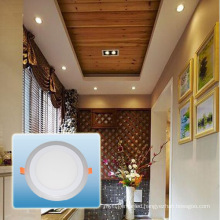 LED Bulb/Aluminum Double Color Round Panel Light