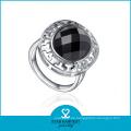Mode Silber runden Achat Ring (R-0437)