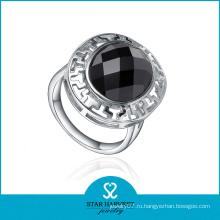 Модное серебро круглого агата кольцо (R-0437)