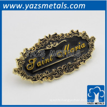 furniture scutcheon tag, metal plating