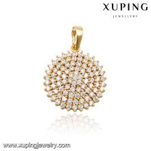 31387 xuping fashion 14k gold diamond gold sun pendant