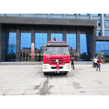HOWO 6X4 water foam fire fighting tank truck