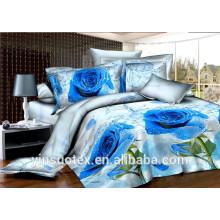 100% Polyester gebürstet Dispersion drucken 3d Bettwäsche Sets / König Größe 3d Bettwäsche gesetzt