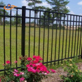 Garden Home Use Curved Wrought Iron Fence Panel