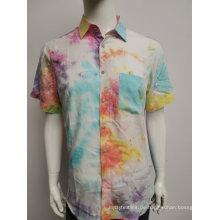 Herrenhemd mit Baumwoll-Twill-Print