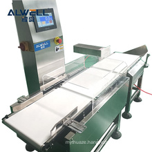 Automatic weighing conveyor check weigher with rejection