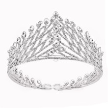 3.5''Fashion Srebro Plated Barokowy Crown Tiaras