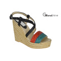 Women′s Platform Espadrilles Braided Strap Wedge Sandals
