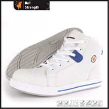 Tornozelo Microfibra couro Sapato de segurança com biqueira composta (SN5469)