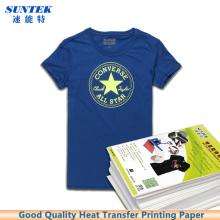 De inyección de tinta láser oscuro camiseta ligera transferencia de calor Presione impresión papel