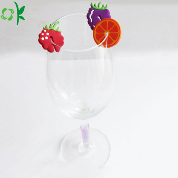 Nuevos productos Fruits Silicone Glass Markers for Cup