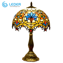 LEDER Classic Tischleuchte aus Glas