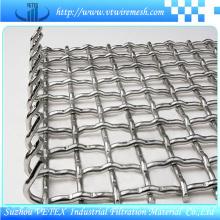 Treillis métallique carré serti utilisé dans l'agriculture