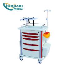 Venda quente carrinho de emergência médica carrinho de anestesia