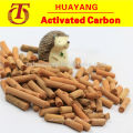 Yellow pellet activated carbon for sweetening/desulfuration