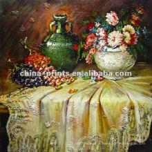 Pintura a óleo da fruta da lona
