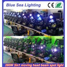 2015 Nuevo 10R 280w 3in1 usado luces de cabeza móviles