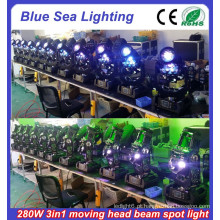 2015 Novo 10R 280w 3in1 usado movendo luzes de cabeça