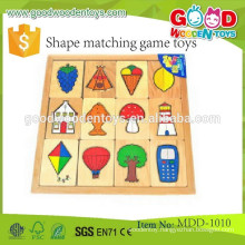 New item wooden match puzzle toy popular wooden shape matching game toys for children,Top quality wooden puzzle game MDD-1010