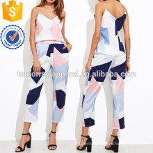 Random Print Top With Pants Manufacture Wholesale Fashion Women Apparel (TA4011SS)