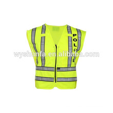 ANSI/ISEA vehicle security vests with sticker warning jacket,reflective apparel flame-retardant