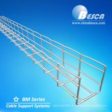 GV galvanizado de aço de suspensão do CE RoHS do CE da bandeja de cabo da malha / bandeja de cabo da rede de arame