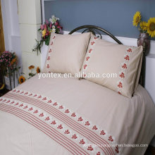 Embroidery bedding set