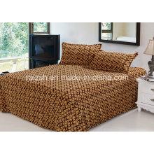 3 Conjunto Coral Fleece Folha de cama com capa de travesseiro