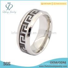 Cool anillos de titanio para los hombres, joyería anillo antiguo esmalte