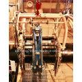 Ölrohrschweißen benutzte automatische Sandstrahl- und Entrostungsmaschine