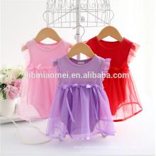 Sommer Baumwolle Bogen New Born Baby Kleid Mode Baby Strampler Für mädchen Sommer Kinder Kleinkind Kleidung spitze baby strampler