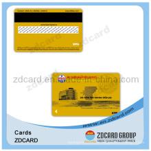 Cartões de PVC com listras de assinatura