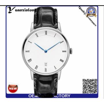 Yxl-658 Black Mens Watches Guangzhou Wrist Watch Mens Brown Leather Watch