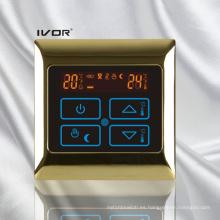 Termostato de calefacción por suelo radiante Interruptor táctil Metal Frame (SK-HV2000B-L)